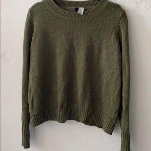 H&M Army Green Crewneck Sweater
